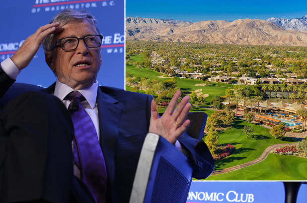 Bill Gates 'hiding out' at luxe billionaires' golf club in California, where he owns a 6-bedroom mansion following divorce from wife Melinda (Photos)