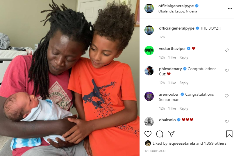 Singer General Pype welcomes his second child  1
