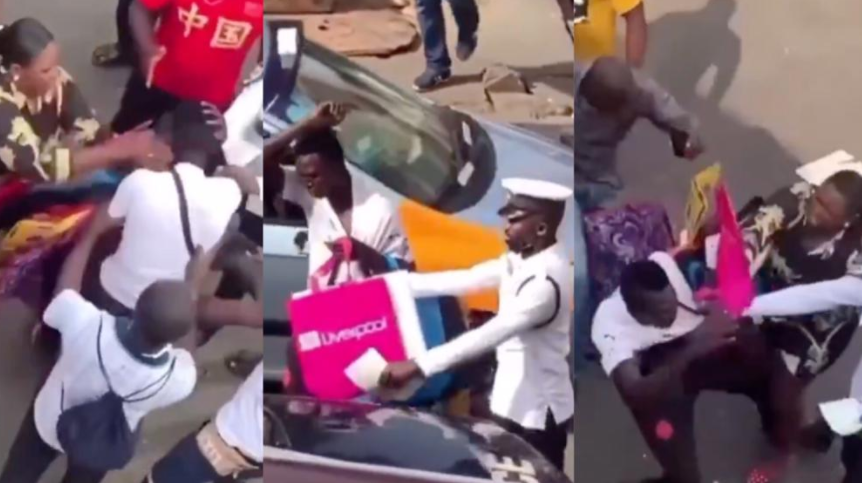 Pickpocket receives slap from woman he tried stealing from