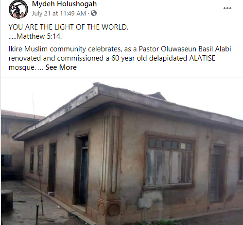 Pastor renovates 60-year-old dilapidated mosque where he used to play with his Muslim friends  1