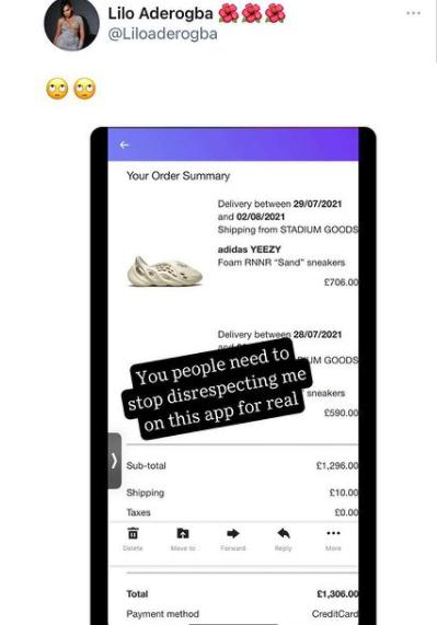 BBNaija's Lilo replies Twitter user questioning the originality of her Yeezy sneakers with receipt