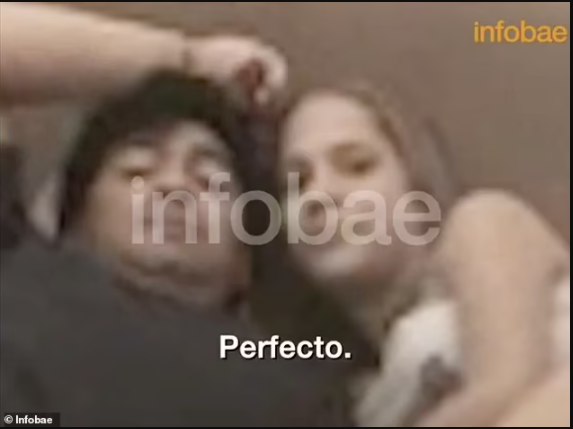 Footage emerges of Diego Maradona on a bed with 16-year-old girl who claims he introduced her to Cocaine after flying her from Cuba to Argentina