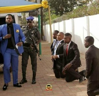 Image result for church members were on their knees to welcome him for a church service