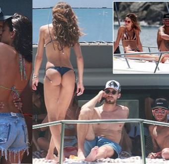 PSG star Neymar packs on PDA with girlfriend Bruna Marquezine as they holiday in Brazil (Photos)