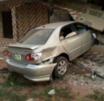 No life lost as car rams into a residential building in Delta state