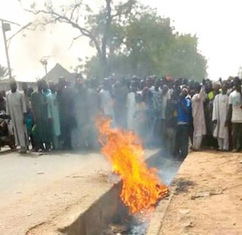 Man burnt to death for robbing and killing a pregnant woman in Nasarawa