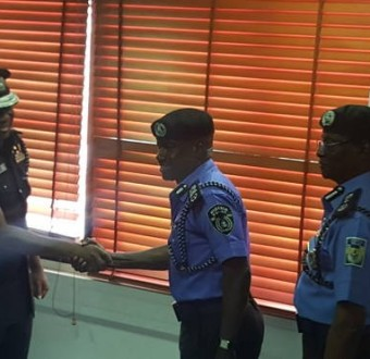 Photo: Police officer, Danjuma Ibrahim, who was accused of complicity in 'Apo six killing' decorated as new AIG