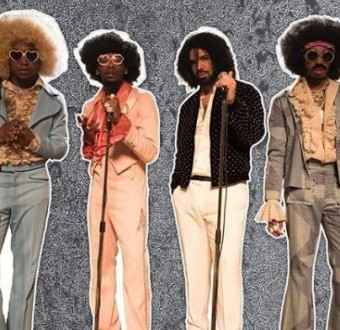 Check out photos of Drake and Migos rappers rocking old school wears and wigs in a new music video