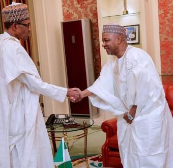 President Buhari in closed door meeting with former Vice President Namadi Sambo