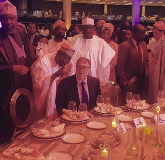 Photo of Bill Gates at the wedding of Africa