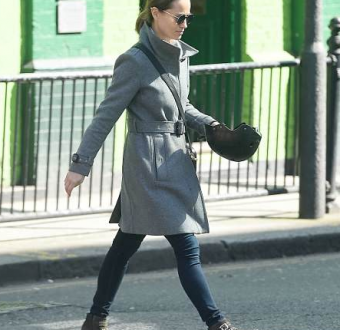 Pippa Middleton steps out for the first time since her father-in-law was charged with the rape of a 15-year-old girl