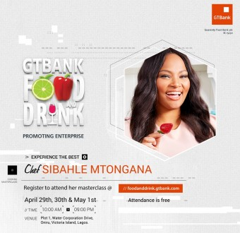 Sibahle Mtongana, host of Siba's Table, is coming to the GTBank Food and Drink Fair