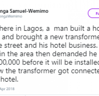 Twitter users narrate how touts have stopped business owners from developing their communities after demanding for