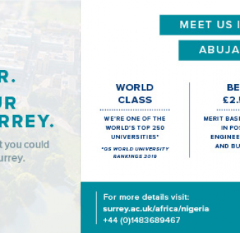Are you interested in studying in the UK? Invest in your future at University Of Surrey