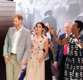 Prince Harry and Meghan Markle attend  the Nelson Mandela exhibition in London (Photos)