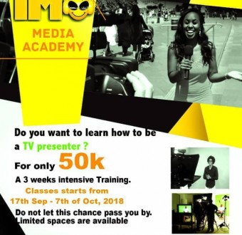Imo Entertainment is offering a 3-weeks intensive training in TV presentation
