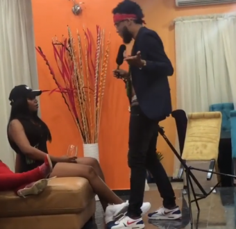 Aww... Antonio sings soulfully to Tonia as Made In Gidi housemates hold lip sync battle (video)