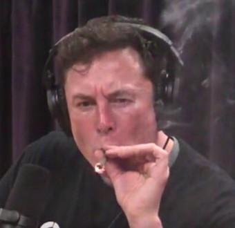 Photos: Tesla CEO, Elon Musk smokes
