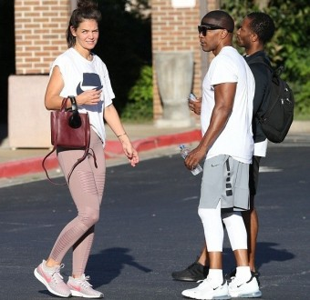 Rarely seen couple Katie Holmes and Jamie Foxx enjoy workout session together in Atlanta (Photos)