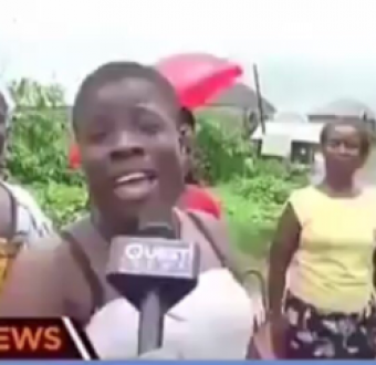 Ben Bruce offers Lady with poetic pidgin English a presenting job on SilverbirdTV