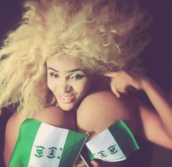 Cossy Ojiakor and her gigantic boobs celebrate Independence day (Photo)