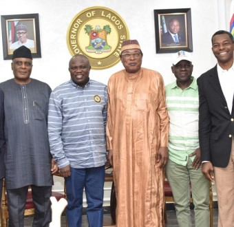 Photos: Gov Ambode receives  APC national working committee panel for Lagos Primary Election at government house