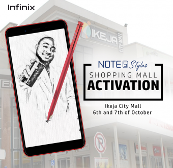 Come participate and win big in the Infinix Note 5 Stylus #TheIntelligentCreator competition/activation at Ikeja City Mall