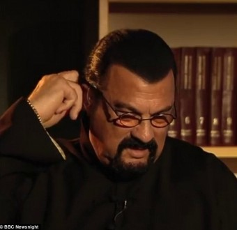 Watch the moment Steven Seagal storms off BBC interview after questions about rape allegations against him (Video)
