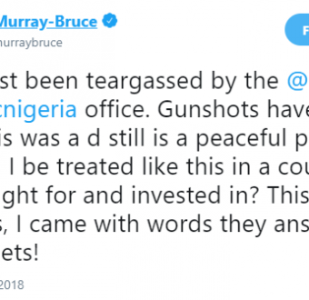 Ben Bruce says Police fired shots, open teargas at PDP leaders protesting Osun election in Abuja