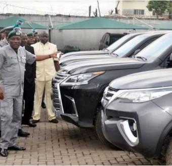 Photos: Nigeria customs seizes9 expensive bulletproof cars worth N1.2 billion