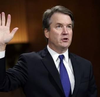 US Senate vote in favor of advancing Brett Kavanaugh to the Supreme Court