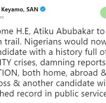See how Festus Keyamo reacted to Atiku Abubakar