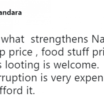 Nigerian lady says looting of the treasury should be brought back, see her reason