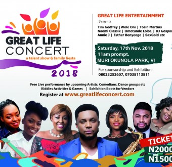 Great Life Concert, a talent show & family fun fiesta debuts in Lagos