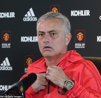 Jose Mourinho promises to control and respect himself when Manchester United take on his former club Chelsea on Saturday