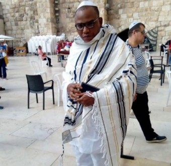 Nigerians react to the sudden re-appearance of Nnamdi Kanu in Jerusalem one year after he went missing