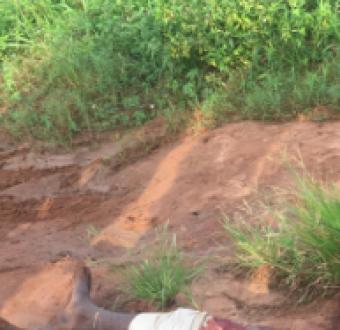 Graphic: Motorcycle rider hacked to death in Ikorodu