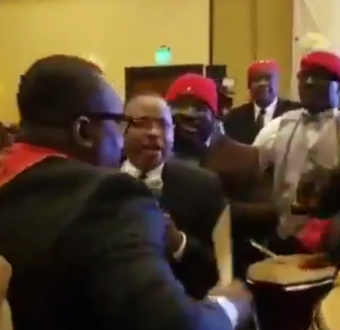 Video of Nigerian Pyrates Confraternity members celebrating at a member