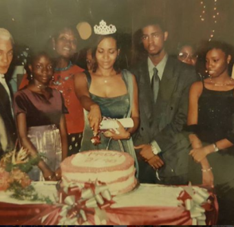 Can you spot the celebrity in this throwback photo?