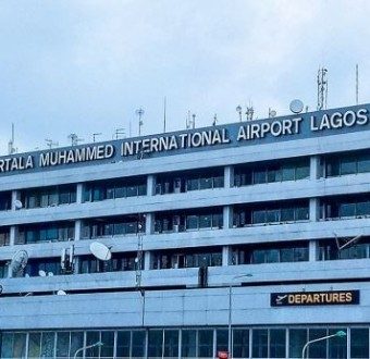 A passenger identified as Ademola Adeleke slumps and dies at the Murtala Muhammed International Airport, Lagos