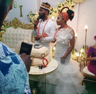 Linda Ejiofor and Ibrahim Suleiman hold court and traditional wedding (photos)