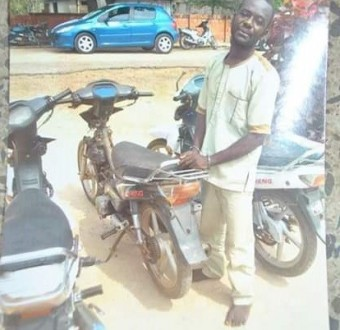 Photo: Notorious motorcycle thief nabbed in Minna