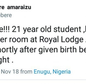 21-year-old student caught in Enugu after killing her newborn baby shortly after giving birth