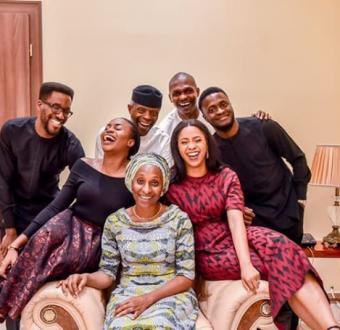 Vice President Yemi Osinbajo and his wife Dolapo celebrate 29th wedding anniversary with adorable family photo