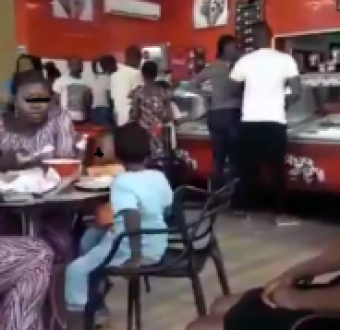 Lady shares sad video of how a family treated their housemaid while celebrating Boxing day at an eatery