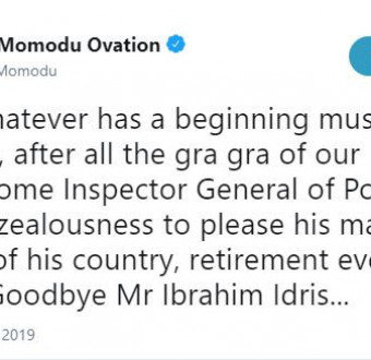 Dele Momodu mocks the retirement of the Inspector General of Police, Ibrahim Idris