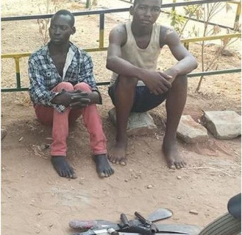 Two teenage boys arrested for robbing and raping a 50-year-old lady in Benue State (Photo)