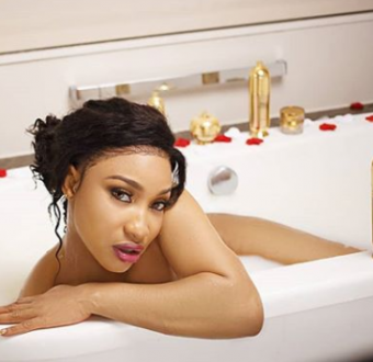 Tonto Dikeh strips down for a photoshoot in a bathtub
