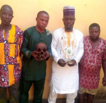 Photo: Islamic cleric, three others arrested with human skull in Ogun State