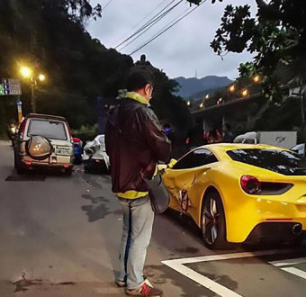 Delivery driver, 20, crashes into four Ferraris after 'falling asleep at wheel' landing him with £520,000 bill (Photos)